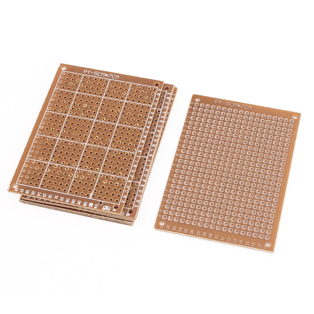 5x7cm Single Sided Circuit Board Prototype PCB Stripboard Breadboard 6pcs