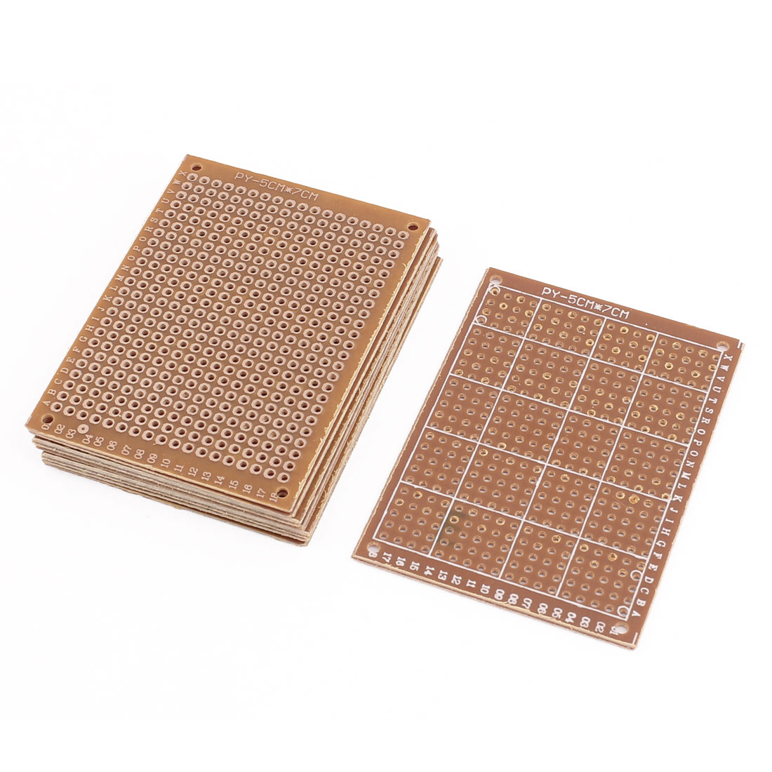 8pcs 5x7cm Single Sided Prototype Universal PCB Board Strip Board Breadboard