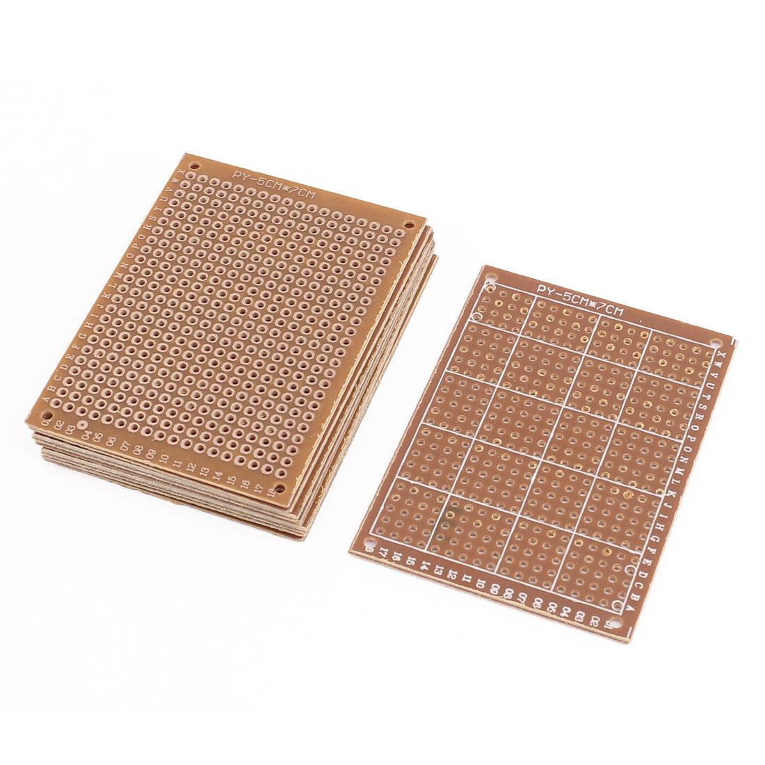 8pcs 5x7cm Single Sided Prototype Universal PCB Board Strip Board Breadboard