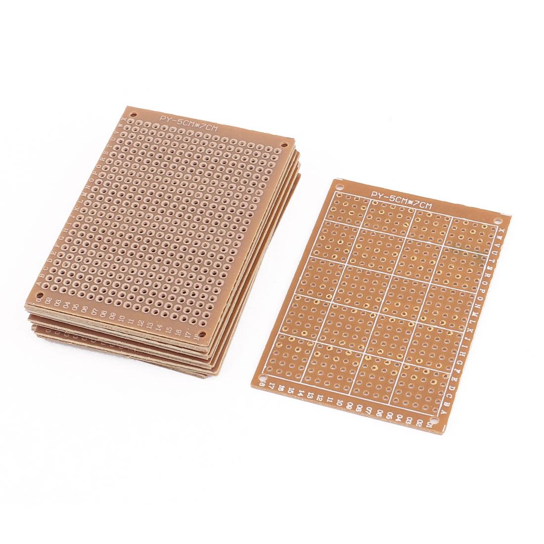 10Pcs 5x7cm Single Side Prototype Universal PCB Experiment Matrix Circuit Board