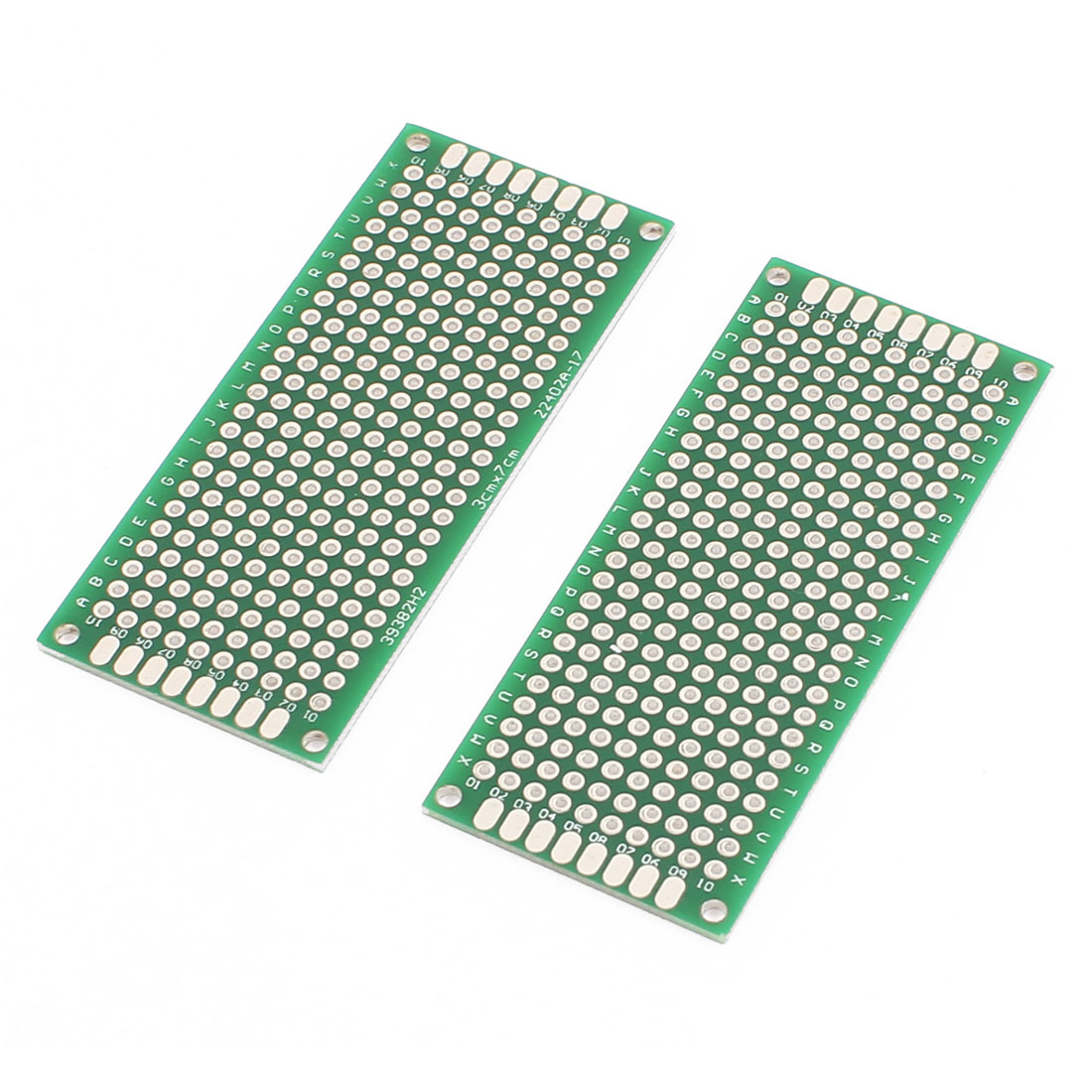 2 Pcs 3 x 7cm Double-Side Prototype Solderable Paper Universal PCB Board