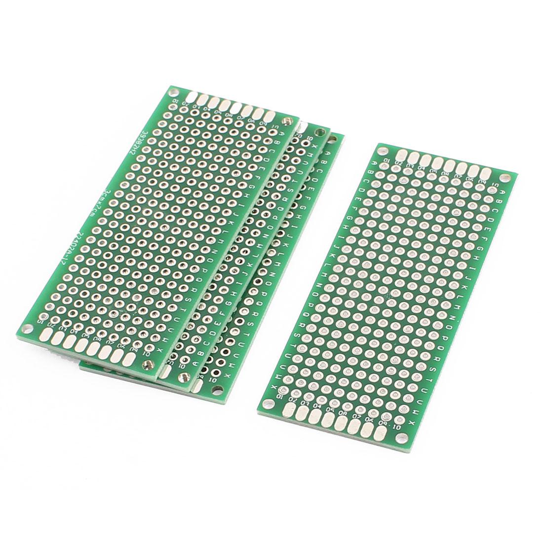 4 Pcs 3 x 7cm Double-Side Prototype Solderable Paper Universal PCB Board