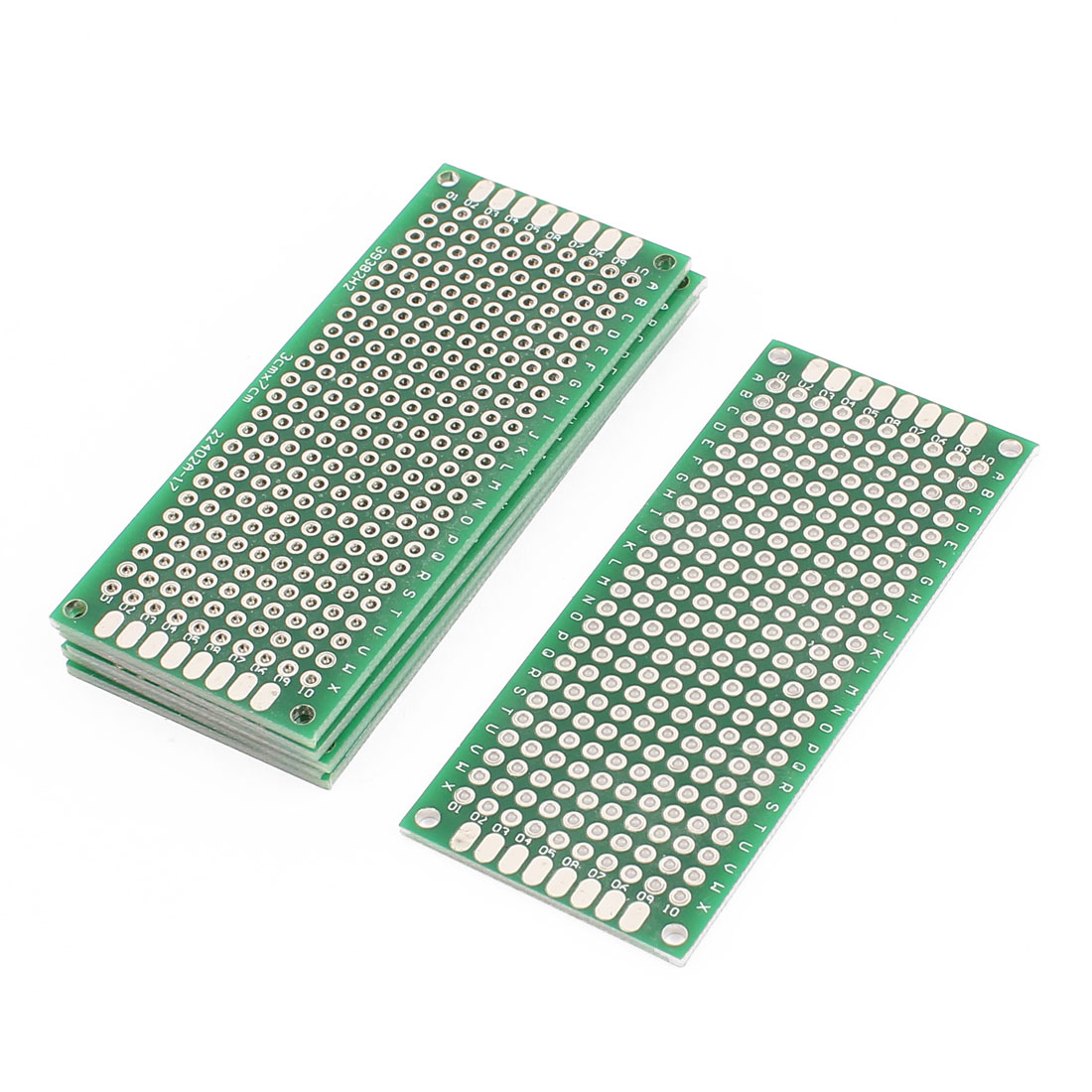 6 Pcs 3 x 7cm Double-Side Prototype Solderable Paper Universal PCB Board