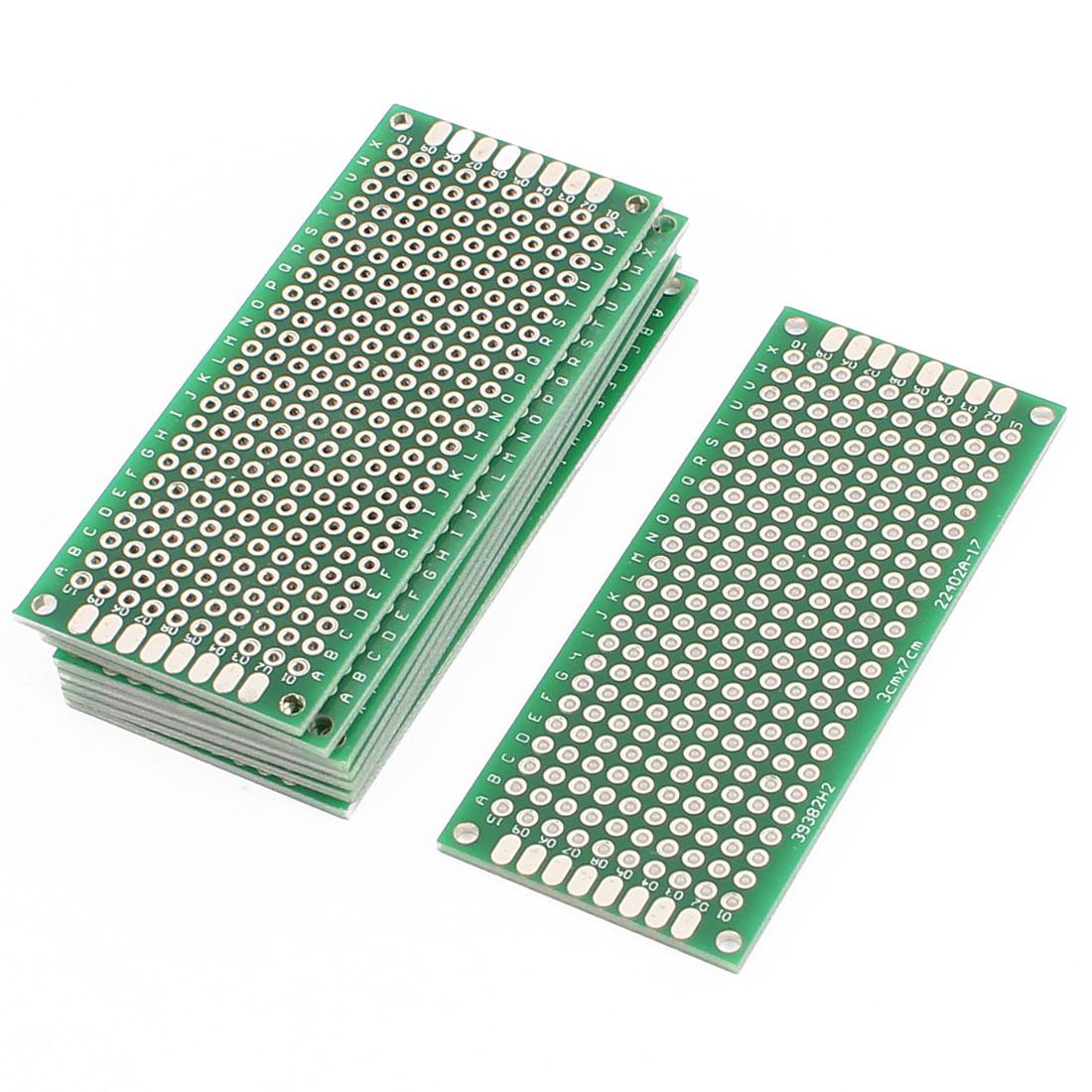 8 Pcs 3 x 7cm Double-Side Prototype Solderable Paper Universal PCB Board