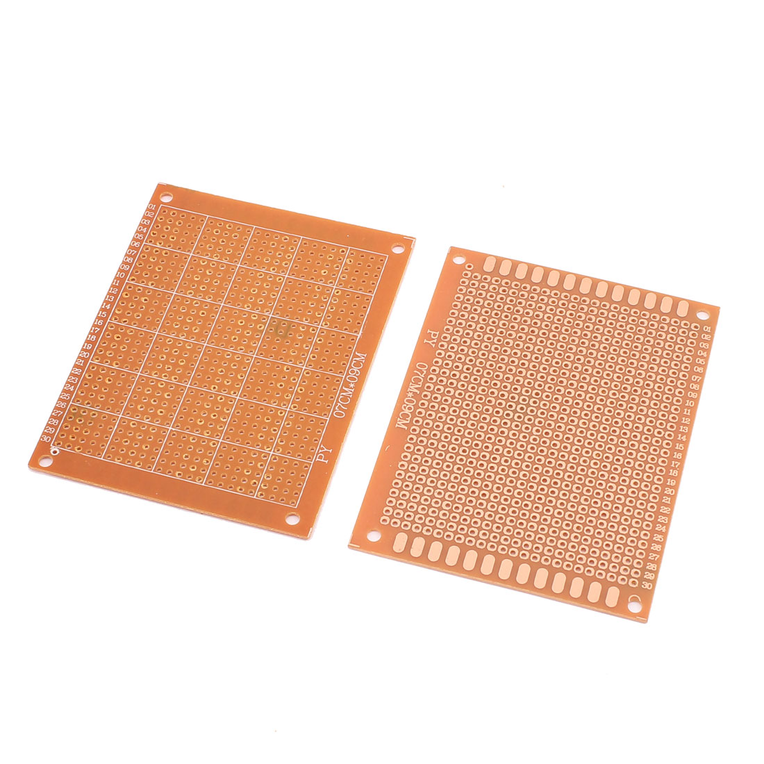2pcs 9 x 7cm Copper Universal Single-Sided Prototyping Stripboard PCB Board