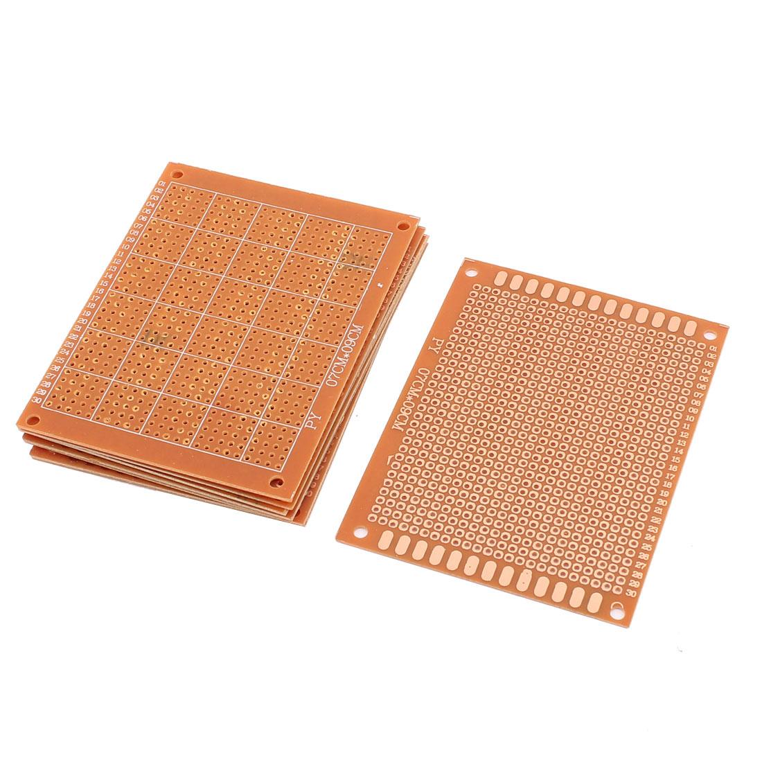 9 x 7cm Copper Universal Single-Sided Soldering Stripboard PCB Board 8pcs