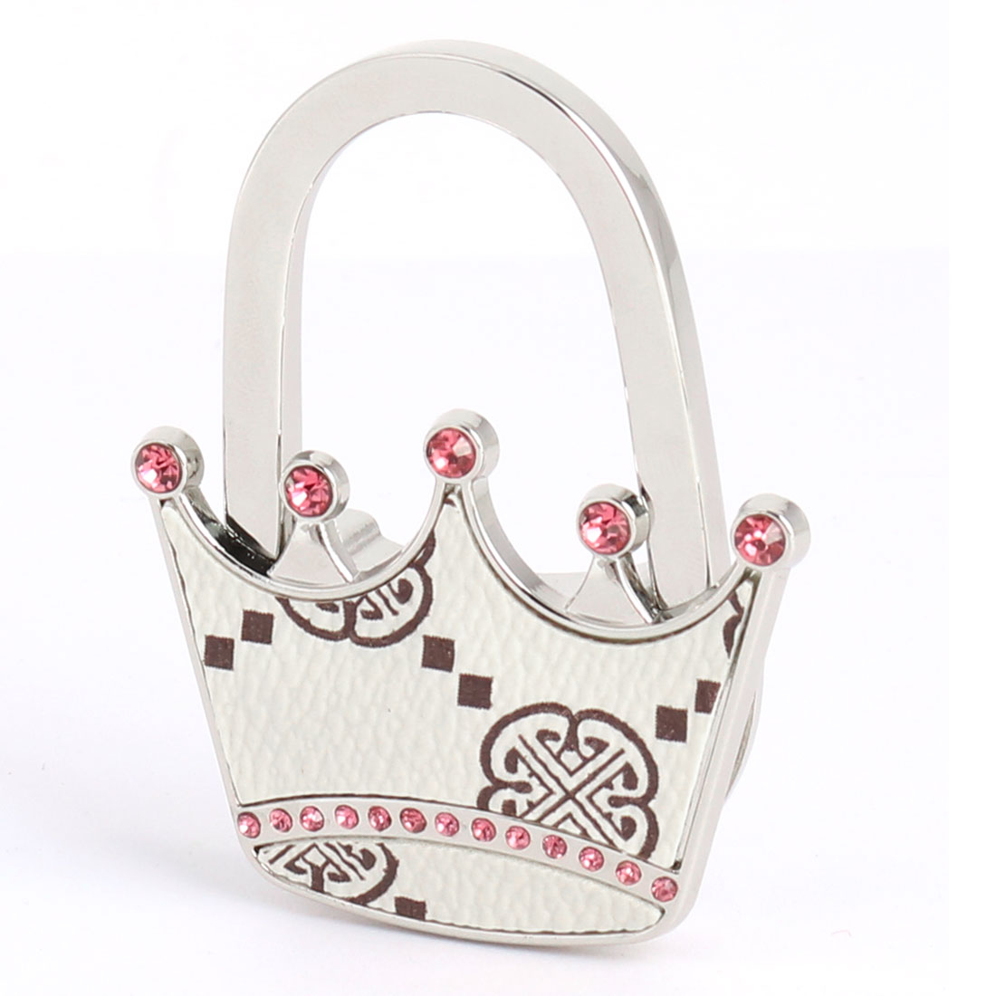 Outdoor Picnic Shopping Crown Shape Rhinestone Decor Handbag Hook Bag Hanger