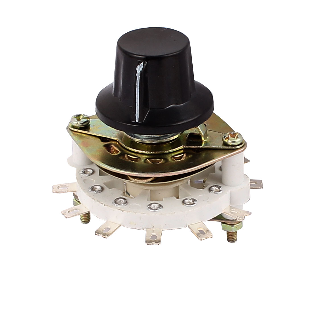 KCT 2 Pole 5 Throw 6mm Shaft Band Channel Rotary Switch Selector w Cap