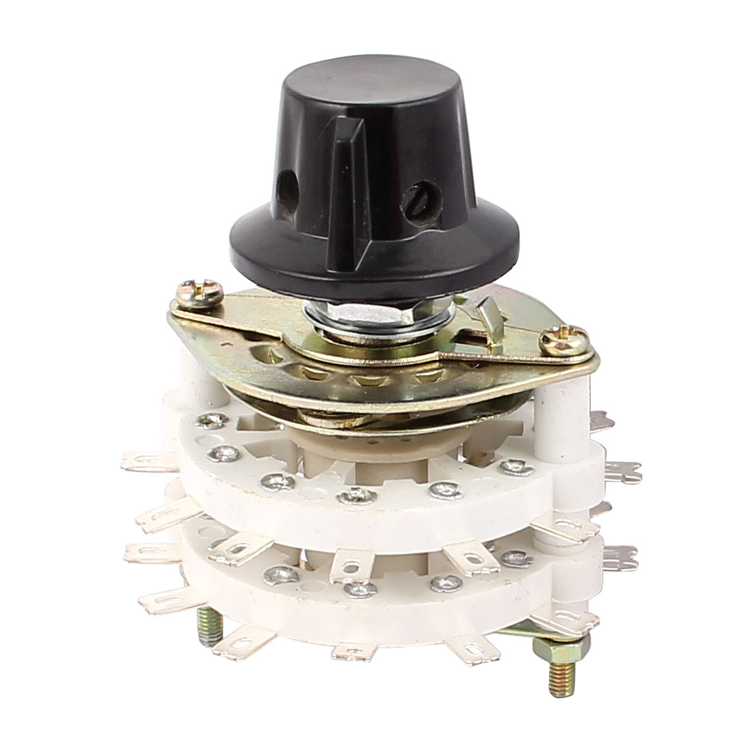 KCT 2 Pole 11 Throw 6mm Shaft Band Channel Rotary Switch Selector w Cap