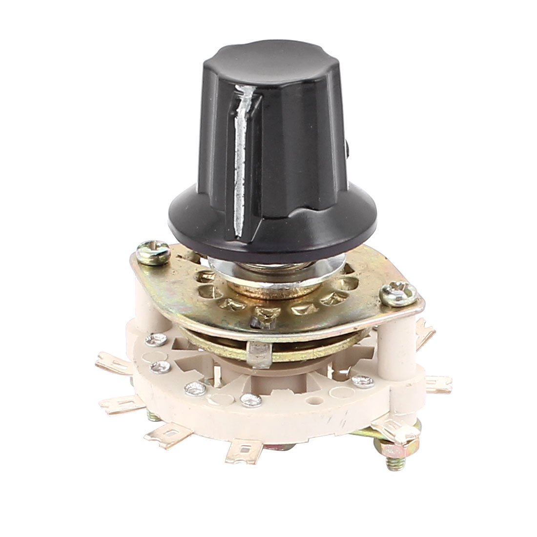 KCZ 2 Pole 4 Throw 6mm Shaft Band Channel Rotary Switch Selector w Cap