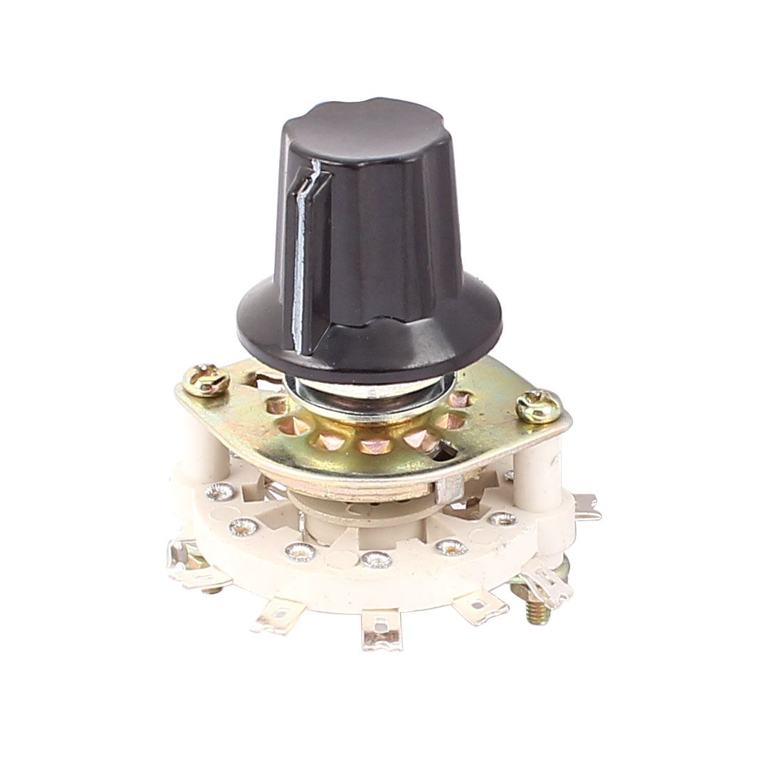 KCZ 2 Pole 5 Throw 6mm Shaft Band Channel Rotary Switch Selector w Cap