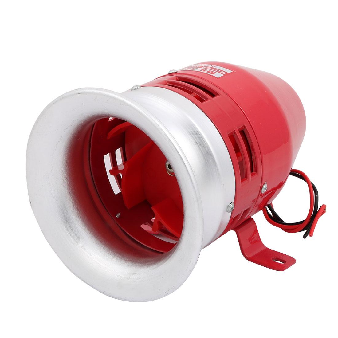 DC 24V MS-390 Metal Safety Motor Buzzer Siren Industrial Alarm Sound Red