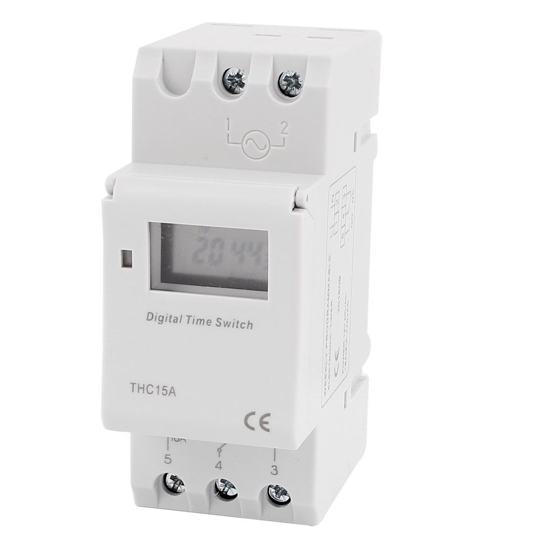 THC15A 12V DC/AC LCD Digital Electronic Programmable Timer Time Relay Switch
