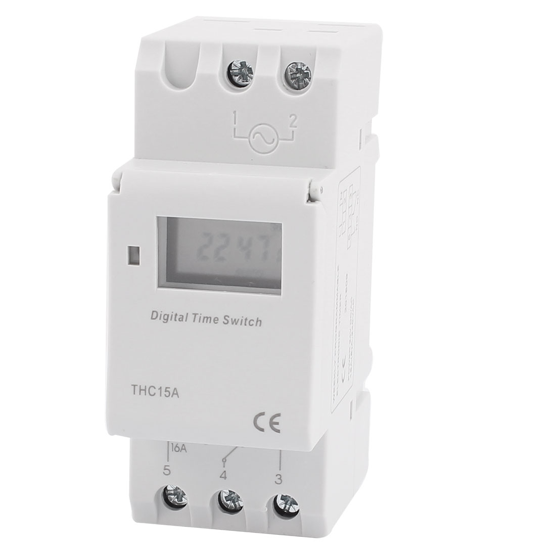 THC15A 24V DC LCD Digital Electronic Programmable Timer Time Relay Switch