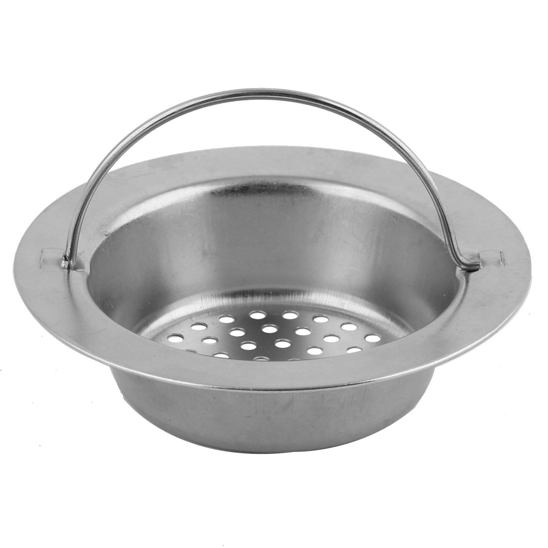 Kitchenware Stainless Steel Garbage Stopper Sink Strainer Silver Tone 90mm Dia