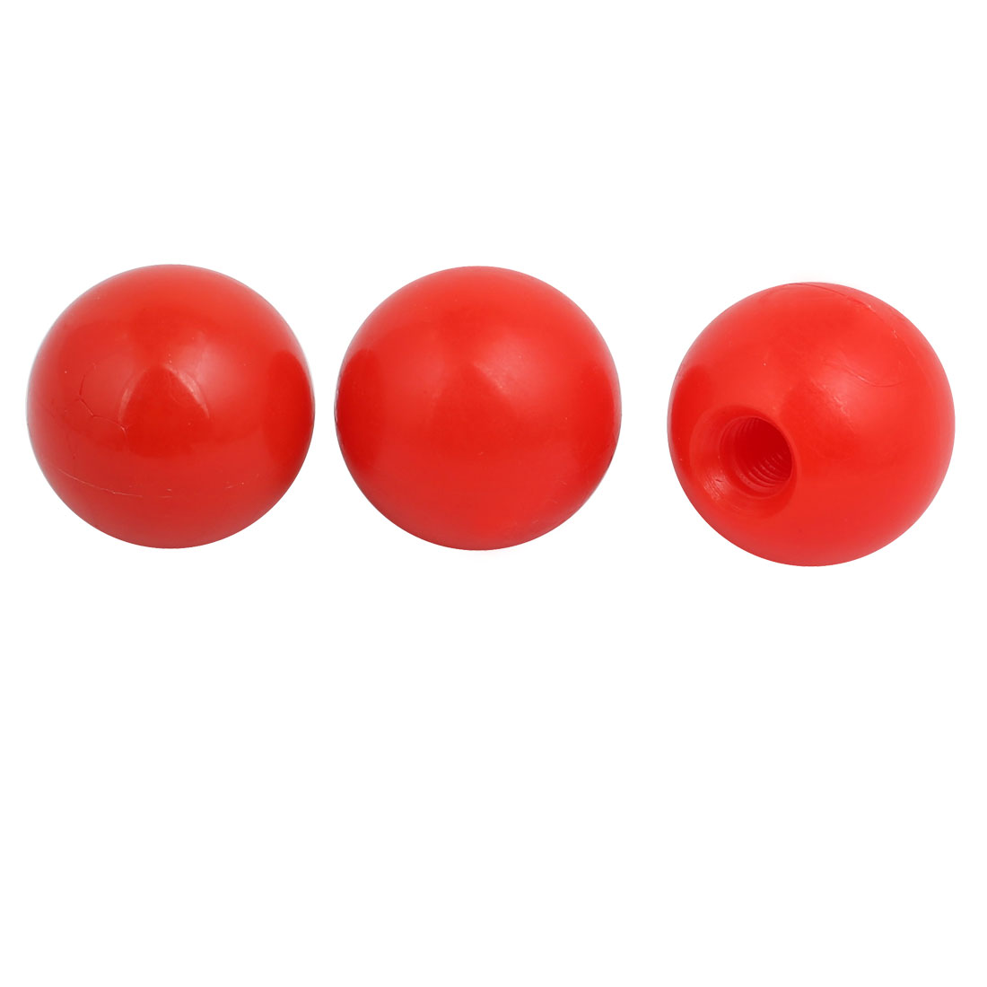 3 Pcs 8.5mm Female Threaded Machine Control Handle Ball Knob Red