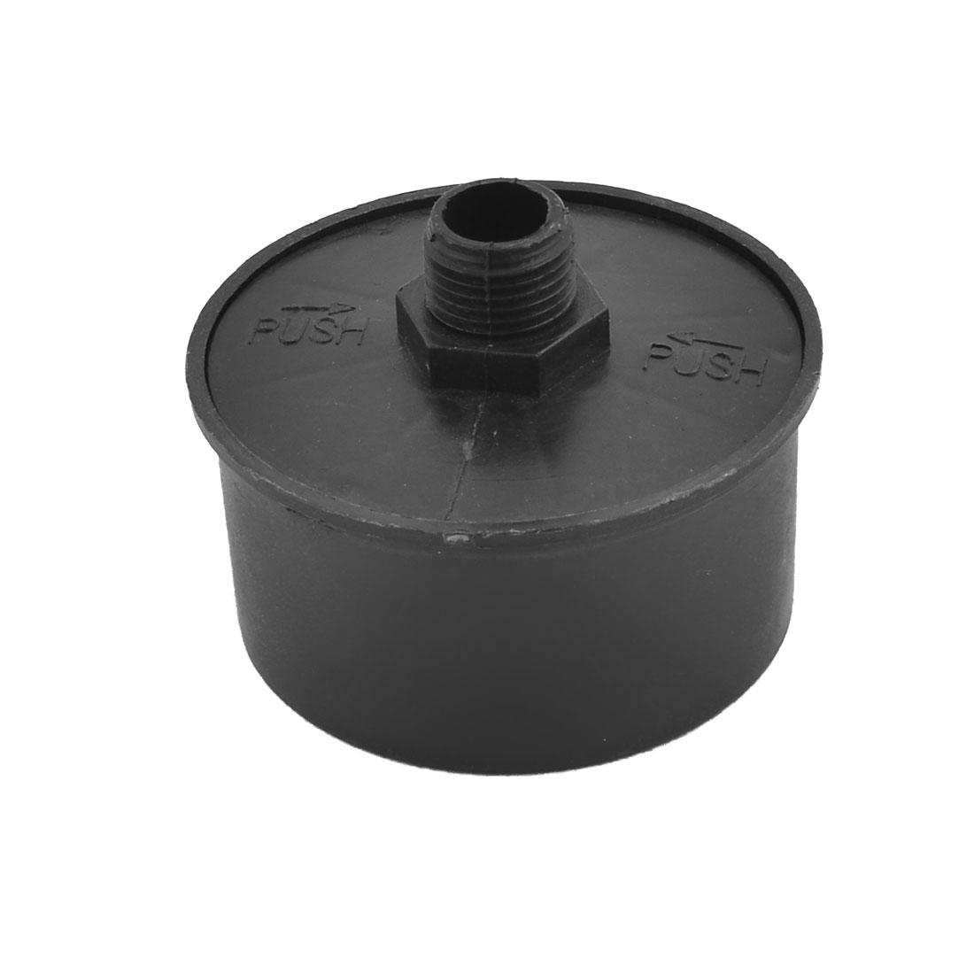 Air Compressor Plastic 16mm Thread Diameter Filter Muffler Black