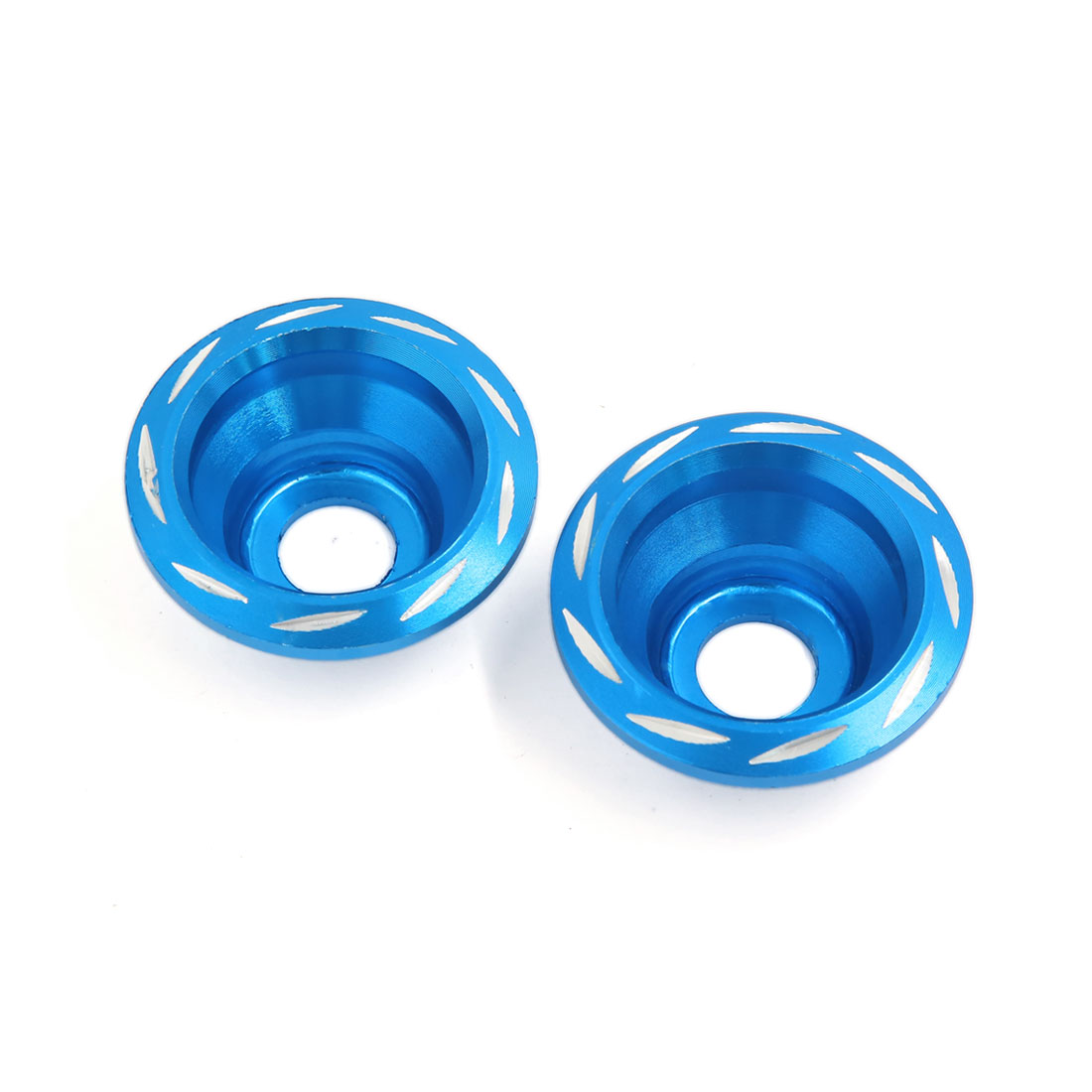 Aluminum Alloy Motorcycle Fork Cup Front Wheel Drop Resistance Cups Blue 2pcs