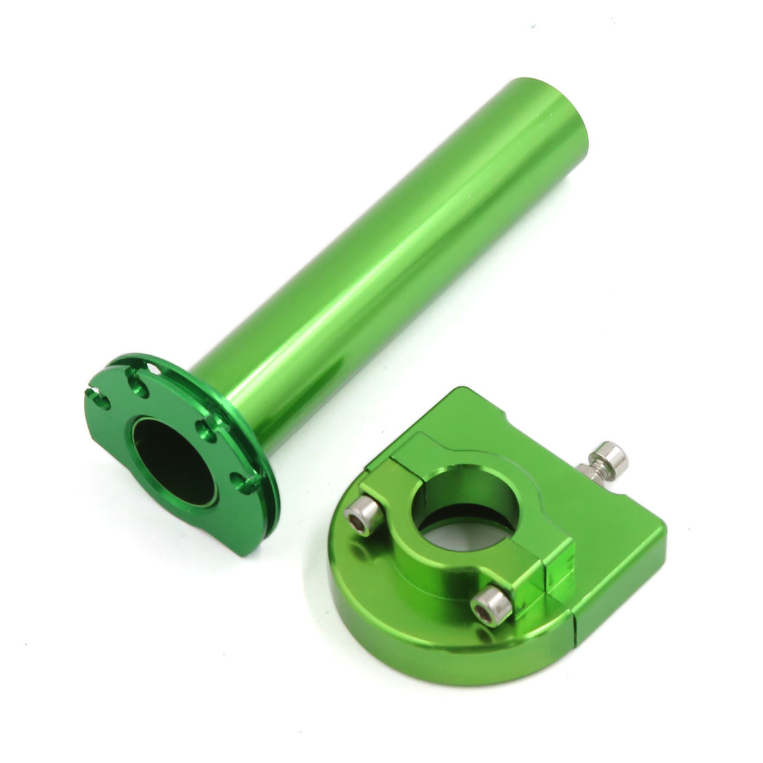 Green Aluminum Alloy Motorcycle 22mm Accelerator Handlebar Handgrips Universal