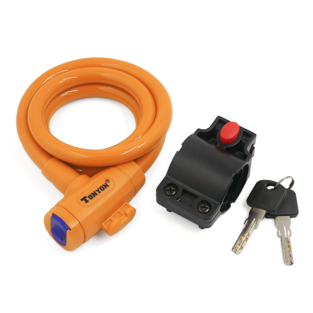 Universal Bicycle Bike Cycling Anti-theft Security Coil Steel Cable Lock Yellow