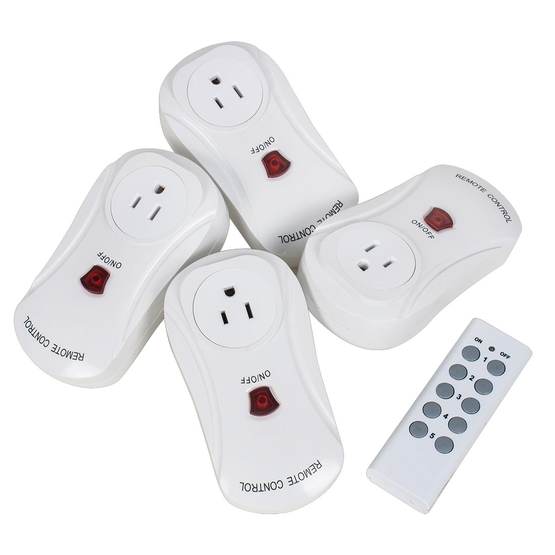 4pcs AC 120V US Plug Wireless Remote Control Outlet Switch Socket w 1 Controller