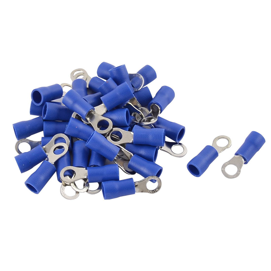 35pcs FX 2-4S 16-14 AWG Gauge Pre-insulated Ring Terminals Connector Blue