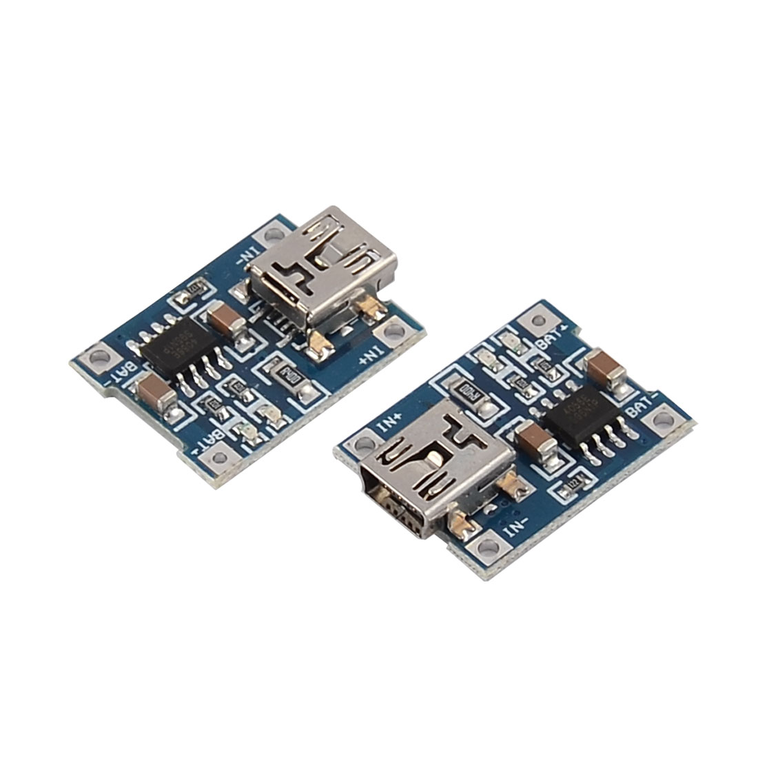 Mini USB 5 Pin Female Lithium-Ion Li-ion Battery Charger Charging Module 2pcs
