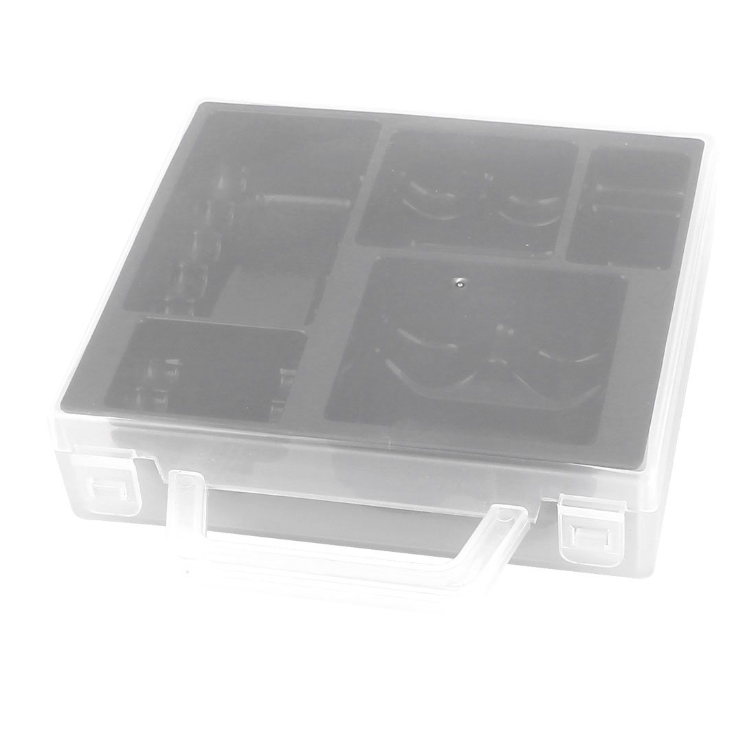 PP Transparent Shell Black Inner Storage Box Container for Various Sizes Batteries