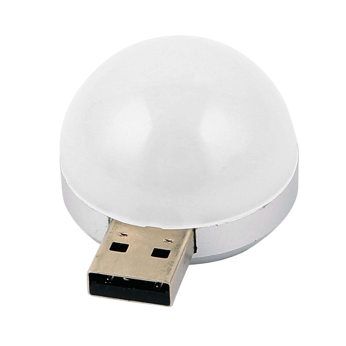 DC3-12V White LED USB Night Lamp Holder Flashlight Mobile Power for Bedside Camping