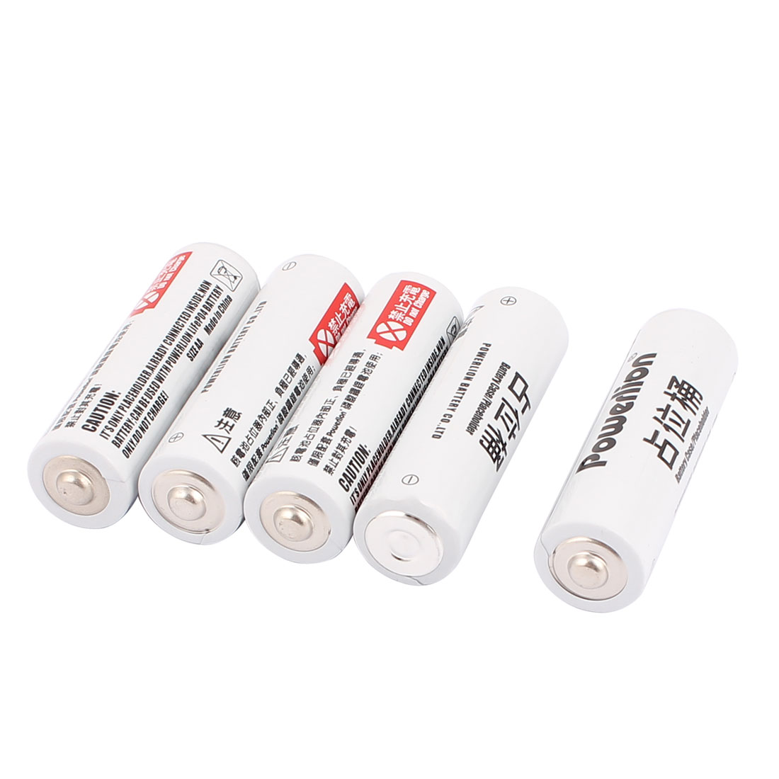 5 Pcs AA Size 14500 Reduce Voltage Placeholder Battery Occupied Spacer Unit For Lifepo4 Batteries