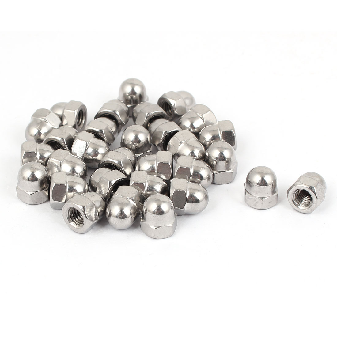 M6 Thread Dia Dome Head 316 Stainless Steel Cap Acorn Hex Nuts 30pcs