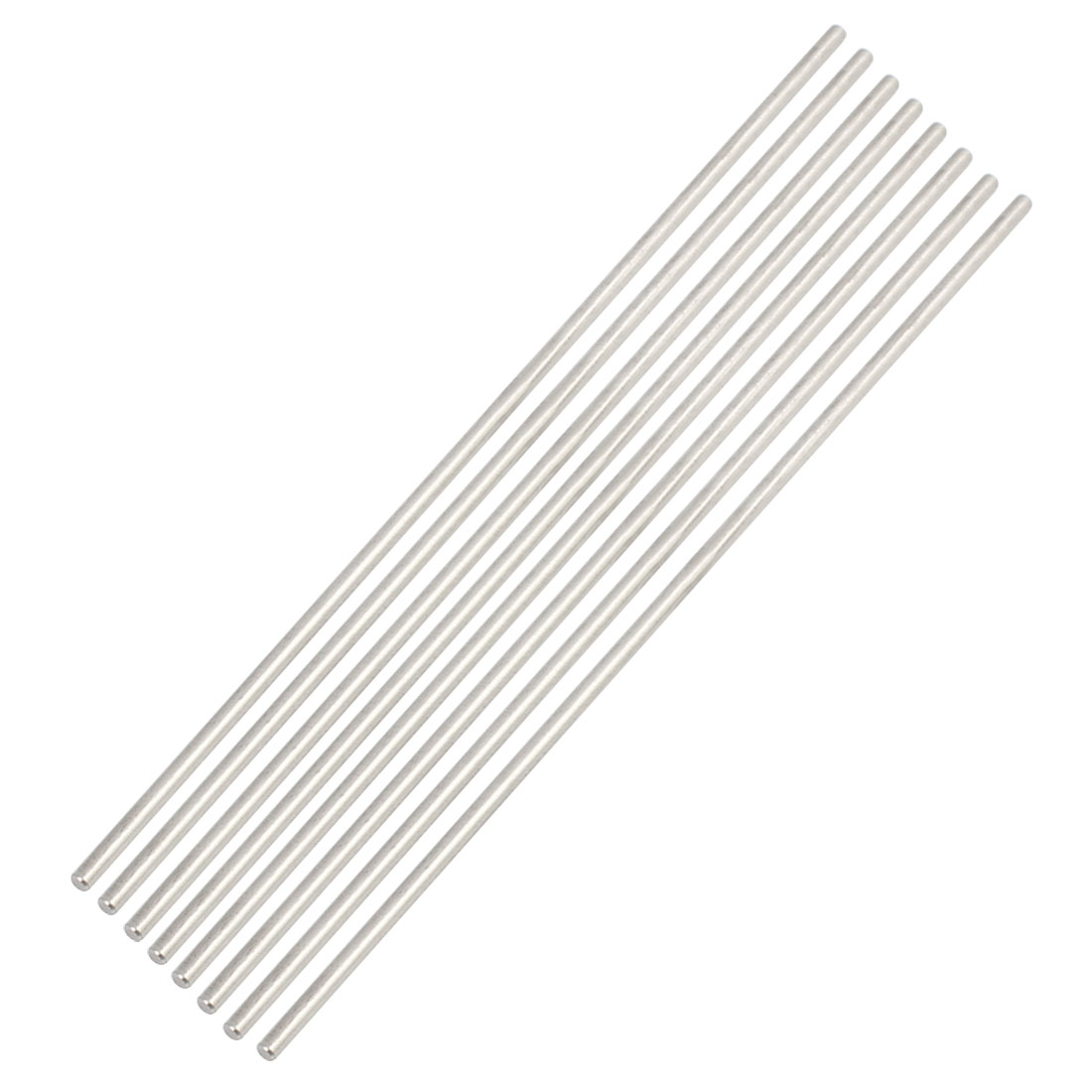 8pcs 2mm x 120mm DIY Stainless Steel Straight Round Rod Bar Silver Tone