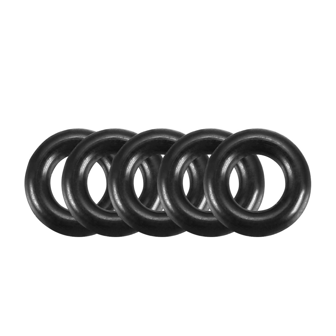 200Pcs Black Universal O-Ring 5mm x 1.2mm BUNA-N Material Oil Seal Washers Grommets
