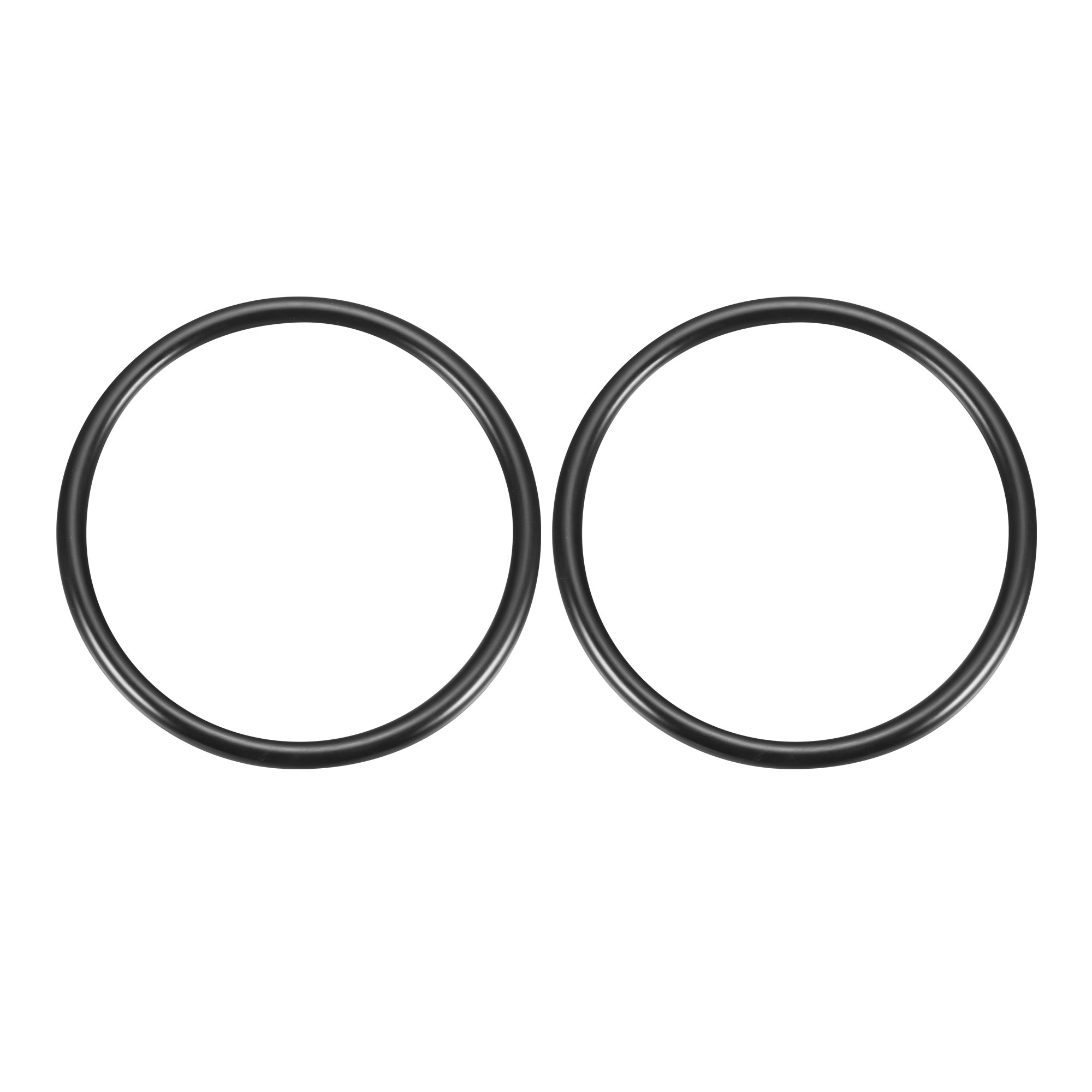 2Pcs Black Universal O-Ring 130mm x 8.6mm BUNA-N Material Oil Seal Washers Grommets