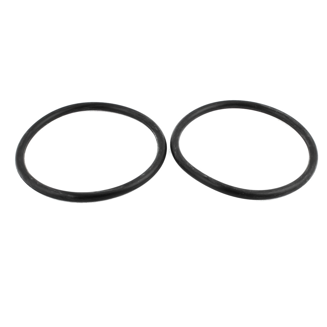2Pcs Black Universal O-Ring 140mm x 8.6mm BUNA-N Material Oil Seal Washers Grommets