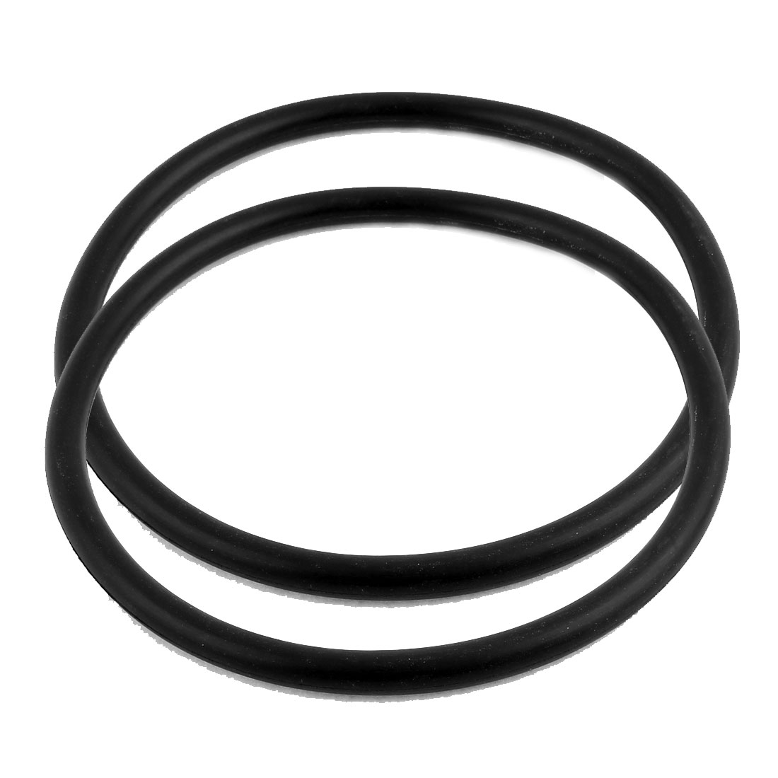 2Pcs Black Universal O-Ring 150mm x 8.6mm BUNA-N Material Oil Seal Washers Grommets