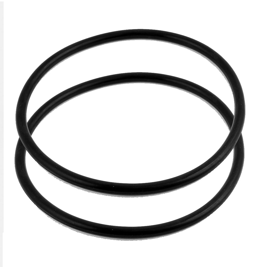 2Pcs Black Universal O-Ring 180mm x 8.6mm BUNA-N Material Oil Seal Washers Grommets
