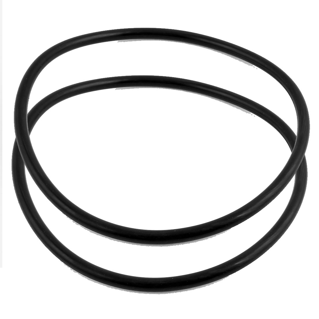 2Pcs Black Universal O-Ring 195mm x 8.6mm BUNA-N Material Oil Seal Washers Grommets