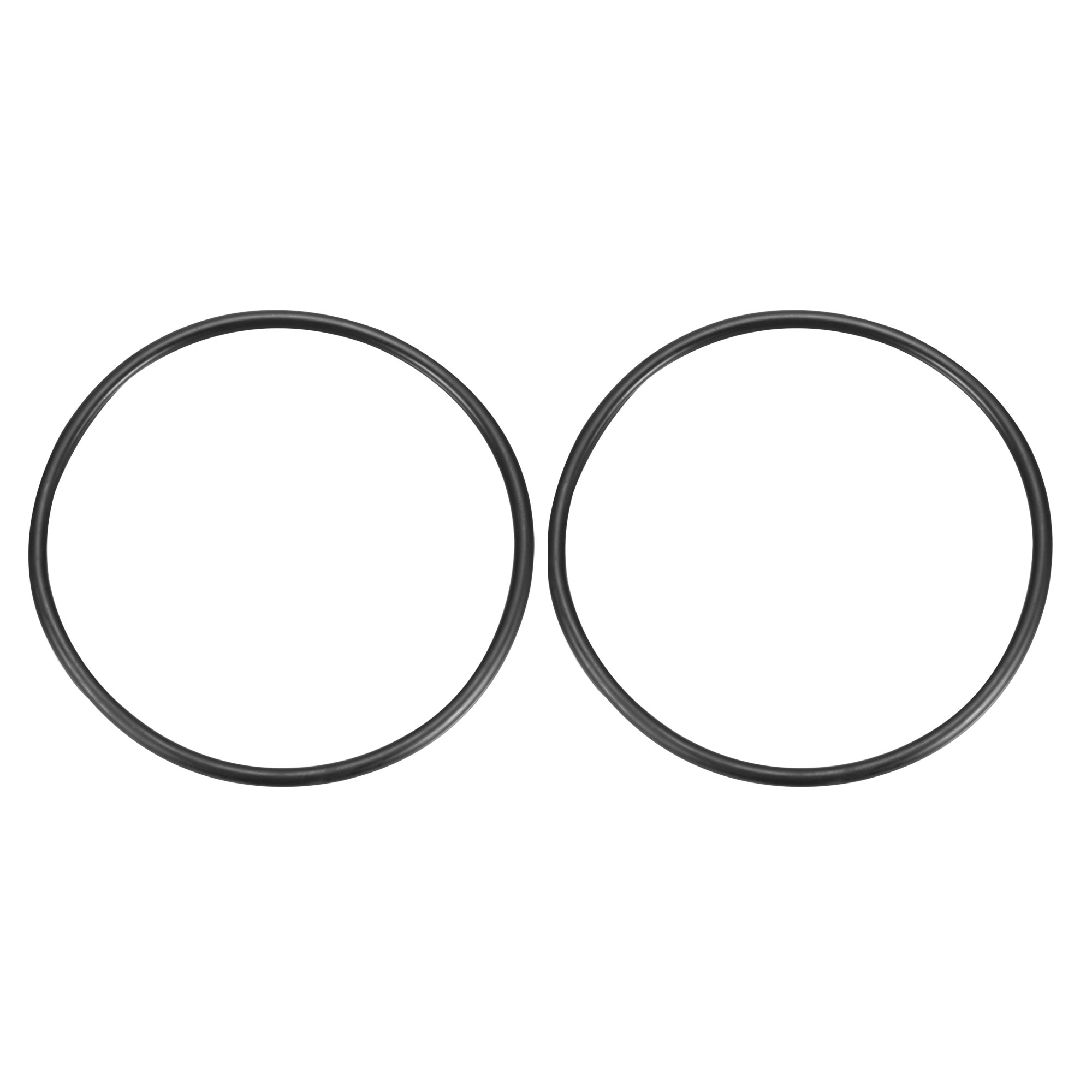 2Pcs Black Universal O-Ring 210mm x 8.6mm BUNA-N Material Oil Seal Washers Grommets