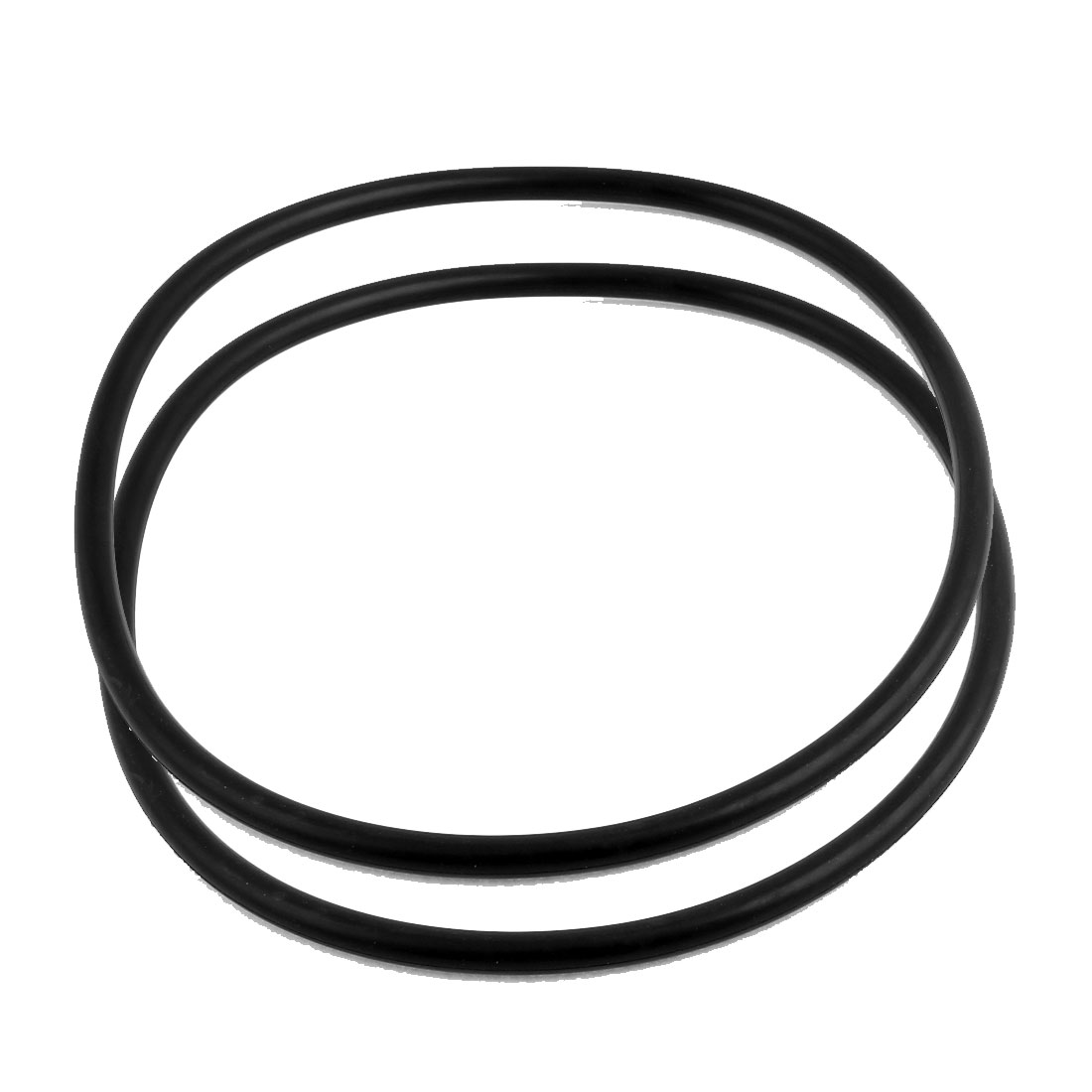 2Pcs Black Universal O-Ring 215mm x 8.6mm BUNA-N Material Oil Seal Washers Grommets