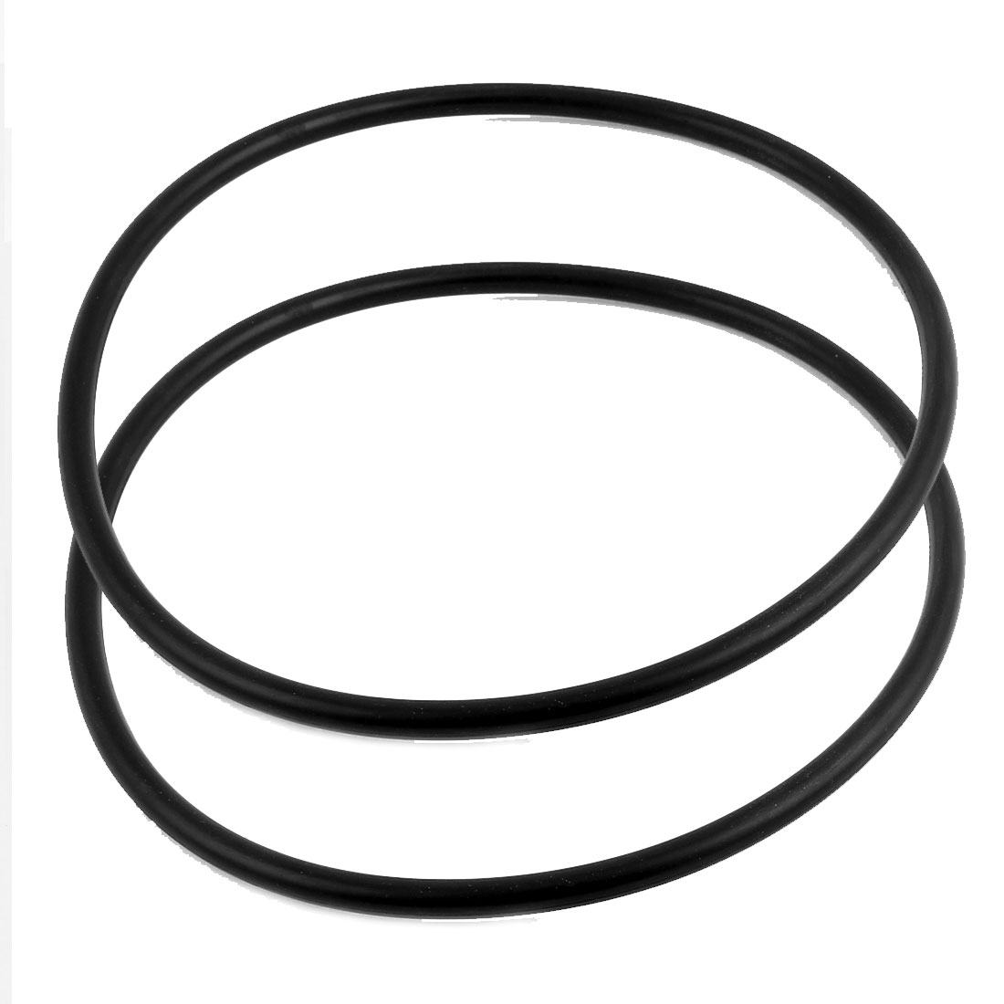 2Pcs Black Universal O-Ring 220mm x 8.6mm BUNA-N Material Oil Seal Washers Grommets