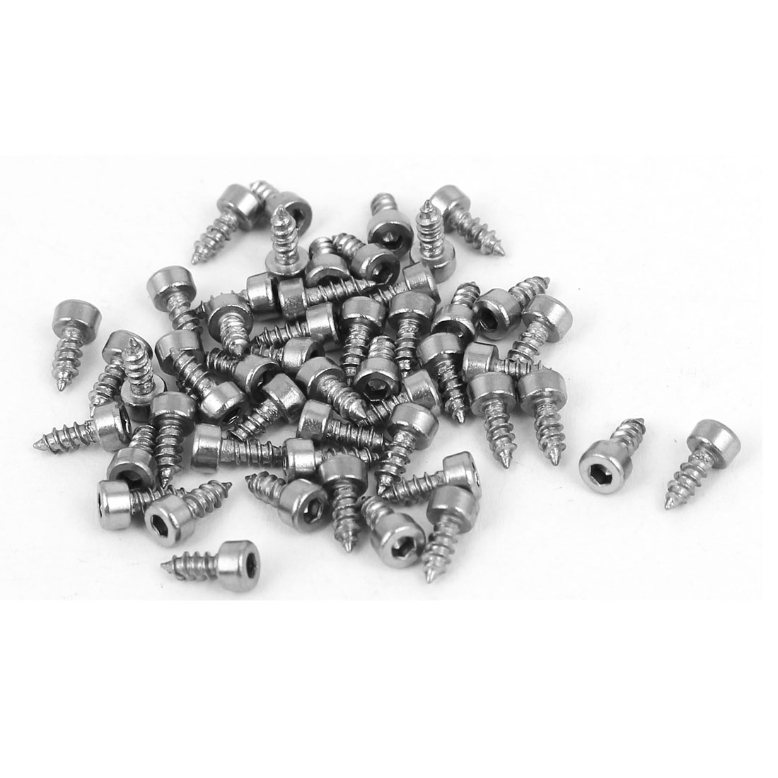 M2x5mm Stainless Steel Hex Drive Head Cap Self Tapping Drilling Screws 50pcs