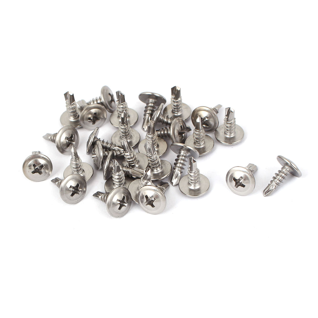 M4.2 Thread Round Phillips Head Self Drilling Tapping Screws 30pcs