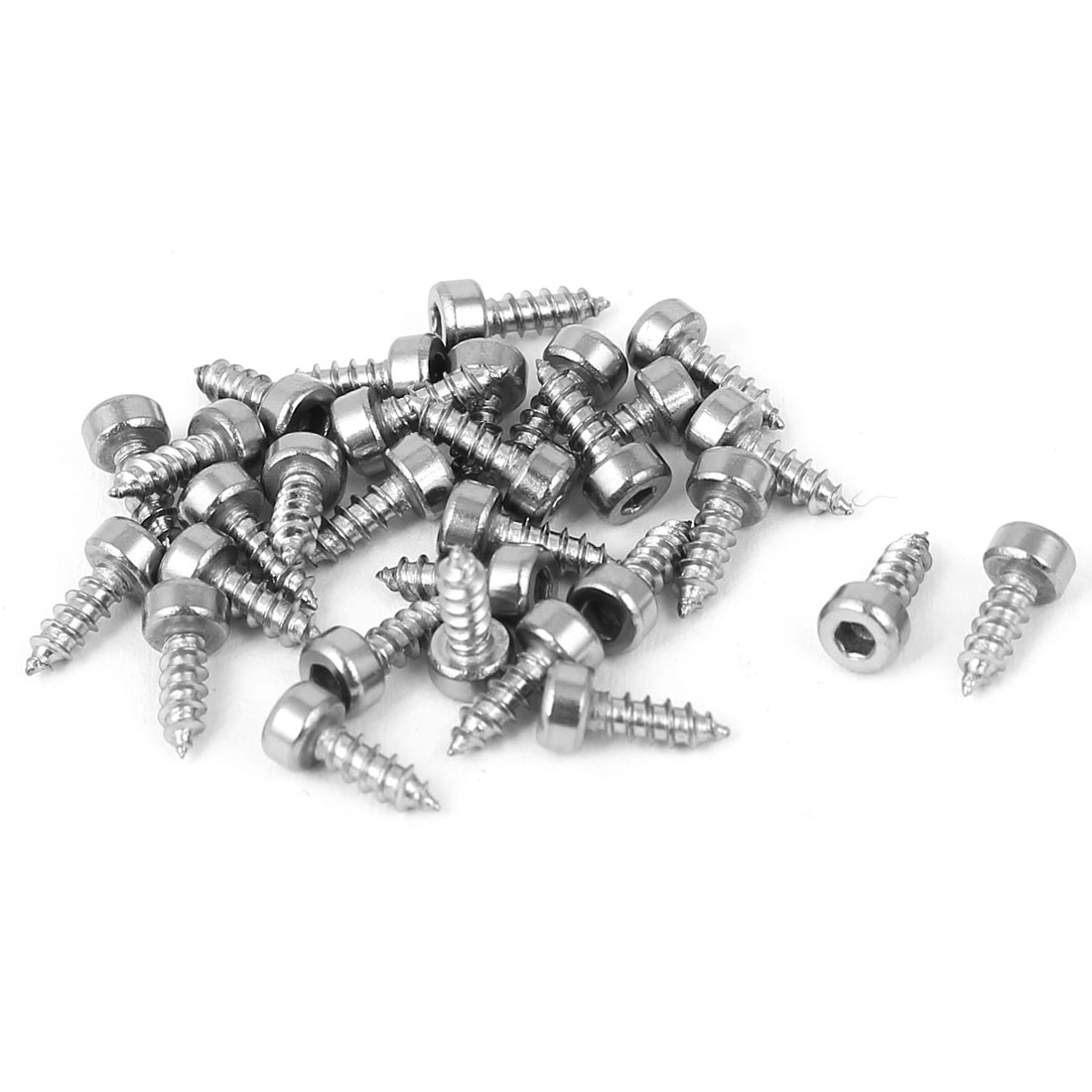 30pcs M2x6mm Stainless Steel Hex Socket Cap Head Self Tapping Screws