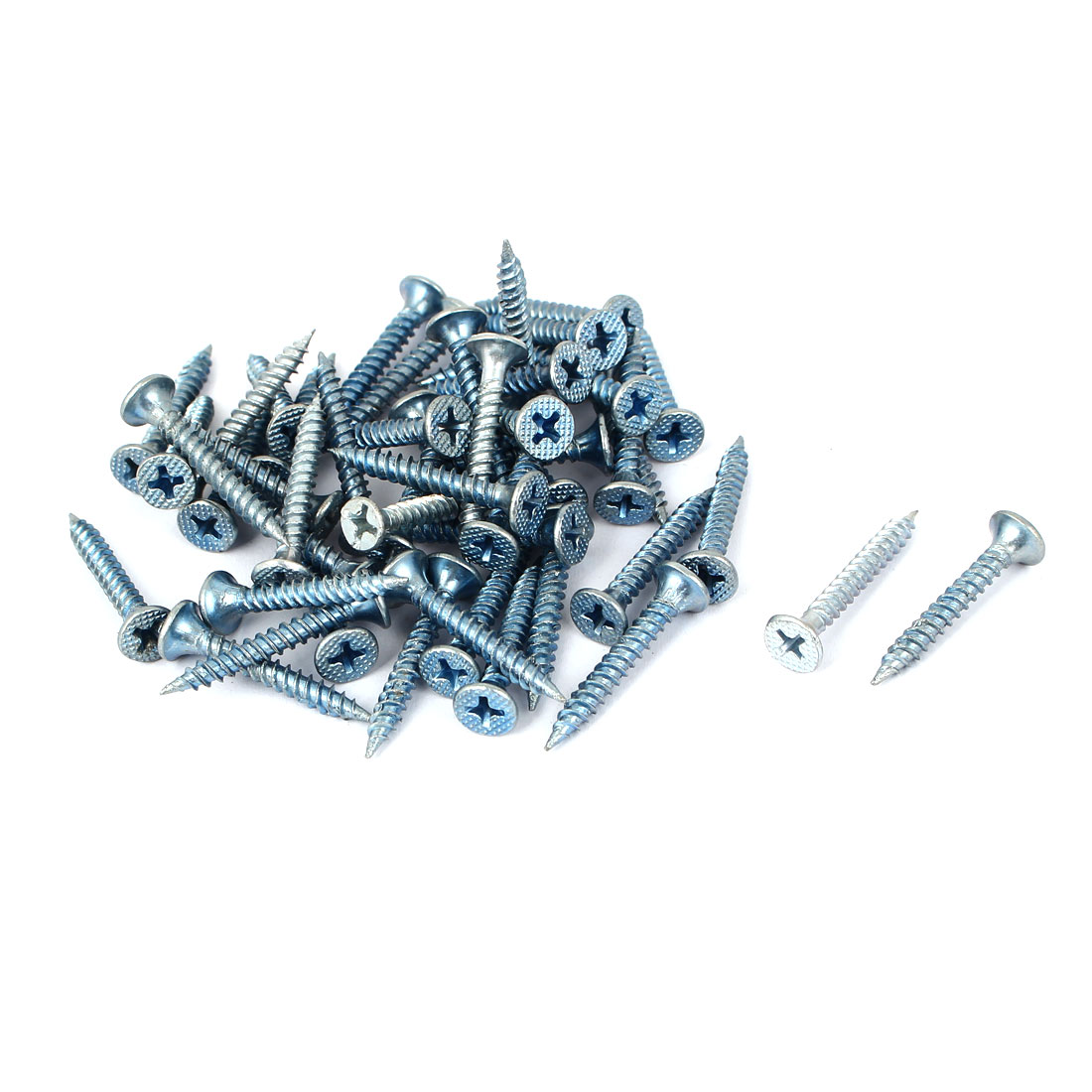M3.5x30mm Zinc Plated Phillips Flat Head Self Tapping Screws Fastener 50pcs