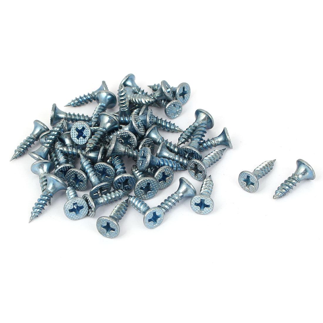 M3.5x16mm Zinc Plated Phillips Flat Head Self Tapping Screws Fastener 50pcs