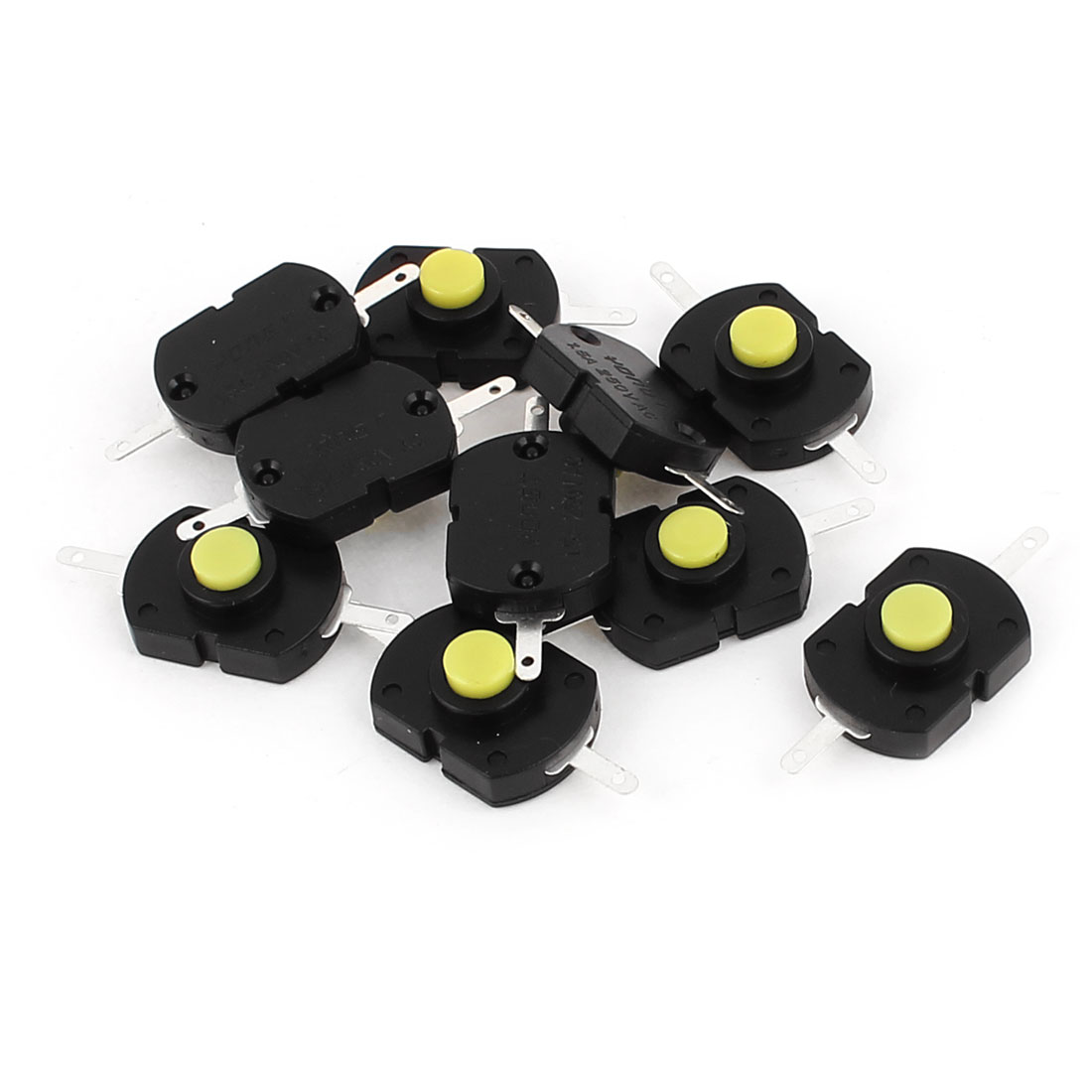 AC250V 1.5A 2 Terminals ON/OFF Latching DIP Push Button Tact Tactile Switch 10Pcs