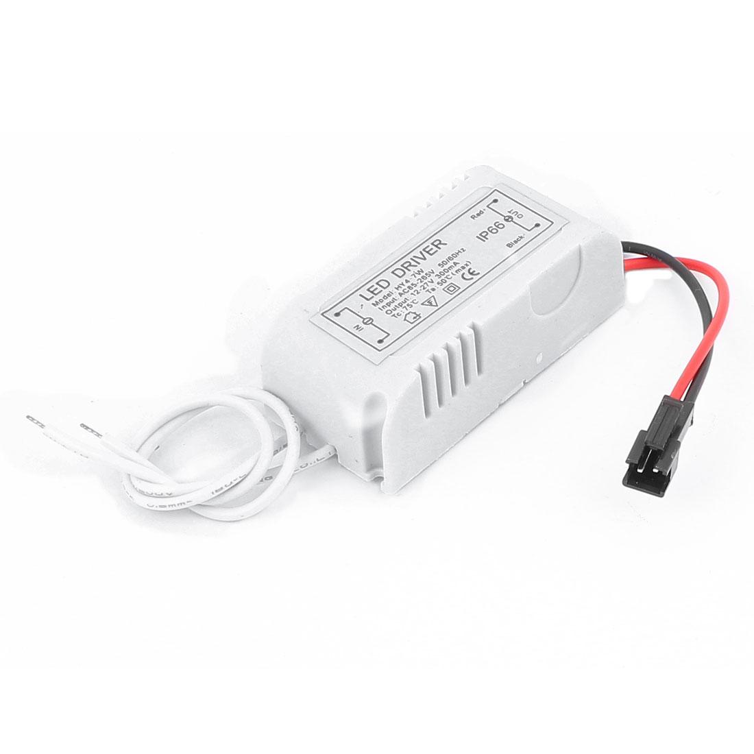 AC 85-265V Driver Power Supply Adapter White for 4-7 1W LED Strip Light Lamp