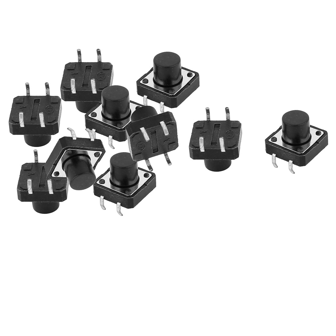10Pcs 4 Terminals Momentary DIP Push Button Tact Tactile Switch 12mmx12mmx12mm