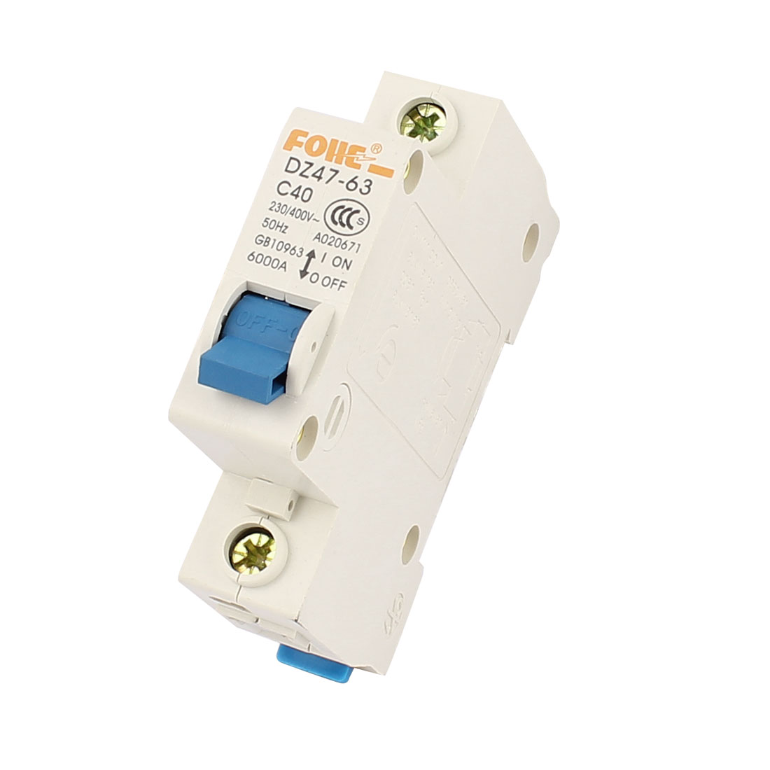 AC 230/400V 40A 1 Pole Overload Protection MCB Circuit Breaker DZ47-63-C40